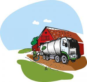 Hämtning av mjölk hos bönderna