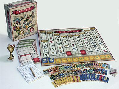 """Illustrationer samt formgivning av sällskapsspelet/Brädspelet """"Antavlan"""" för Genline AB. Ett spel som handlar om släktforskning,"""