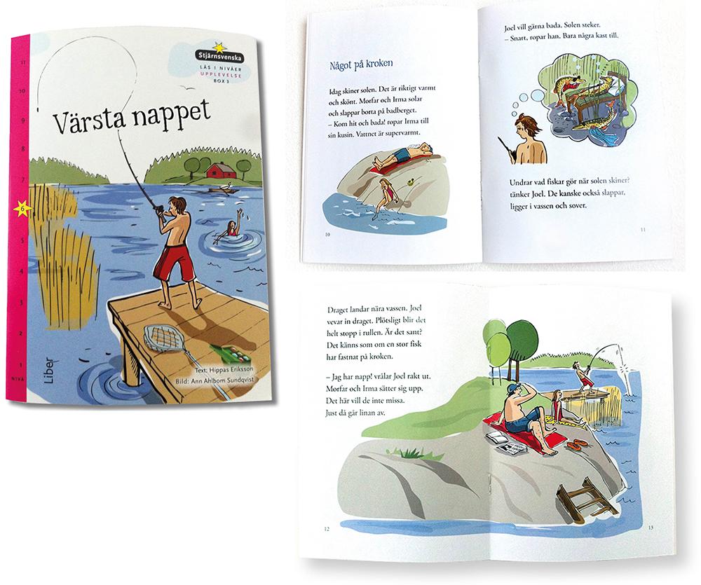 """Illustrationer för Liber Läromedel i boken """"Värsta nappet"""""""