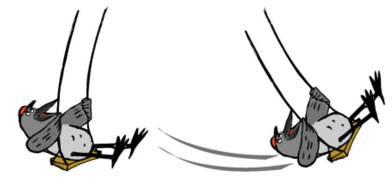 Gungande kråkor.